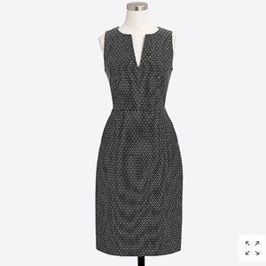 J. Crew Sz 10 polka dot split neck dress G2224